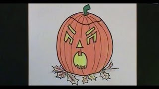Halloween FUN! Draw a PUMPKIN with a MEAN Face! Easy to Follow Lesson