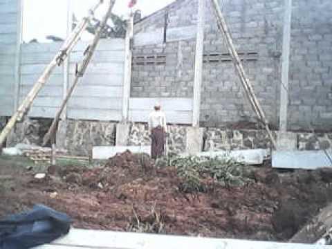 Pasang pagar beton pan...