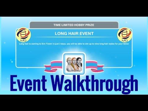 The Sims Freeplay Long Hair Event Walkthrough Youtube