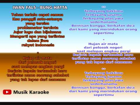 IWAN FALS - BUNG HATTA KARAOKE TANPA VOCAL