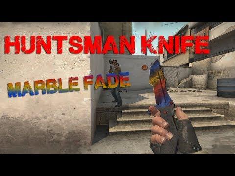 Huntsman Knife Marble Fade (factory new) - CS:GO Skin Showcase - YouTube