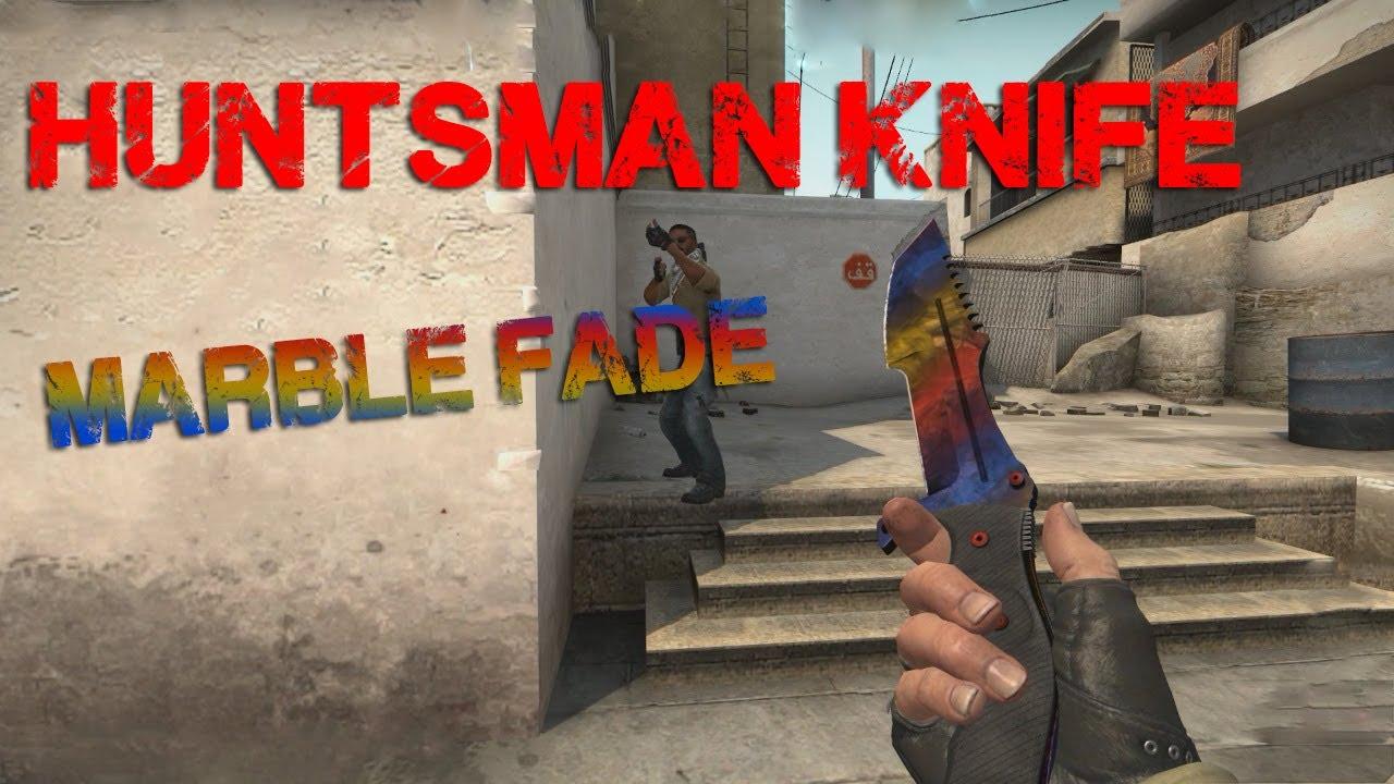 Huntsman Knife Marble Fade (factory new) - CS:GO Skin Showcase