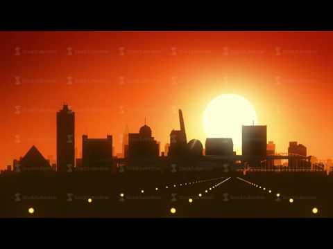 Memphis Tennessee USA America Skyline Sunrise Landing