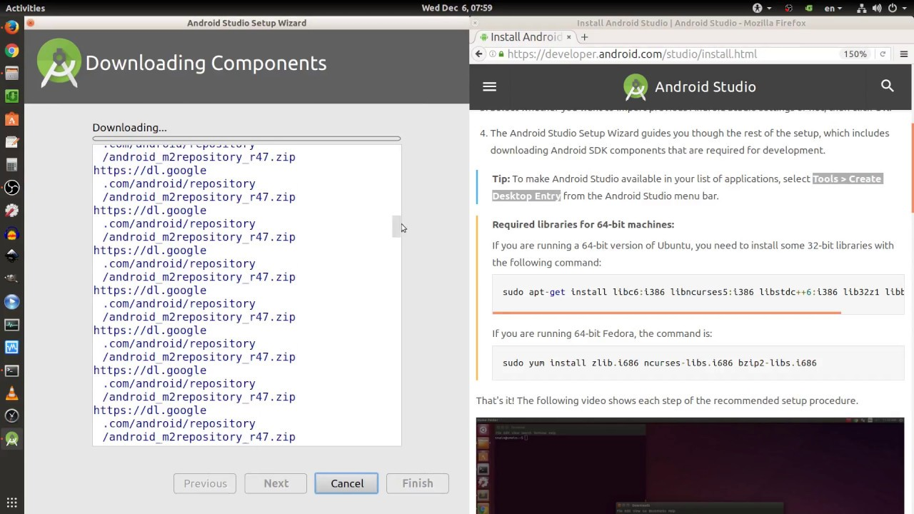 Ubuntu Linux OS: Install Android Studio 3 0 1 and Required Libraries