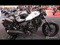 2018 Honda Rebel 300 Accessorized - Walkaround - 2017 Toronto Motorcycle Show