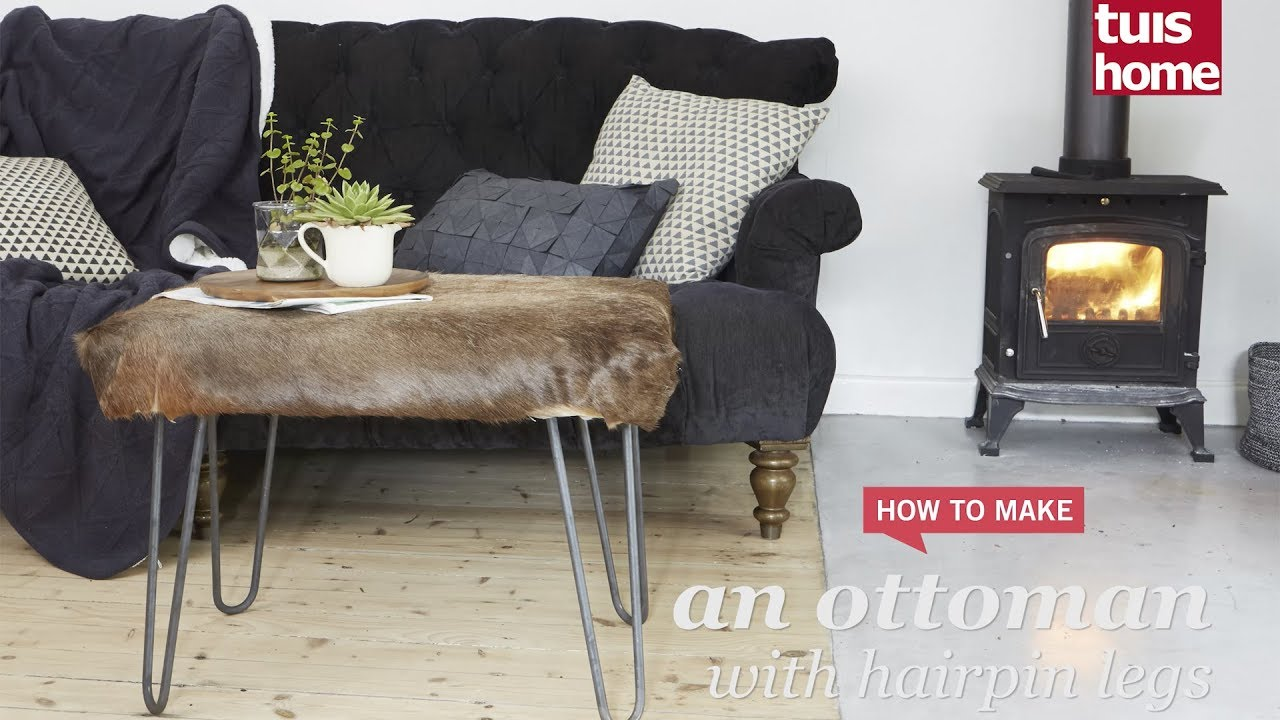 An Ottoman With Hairpin Legs Youtube
