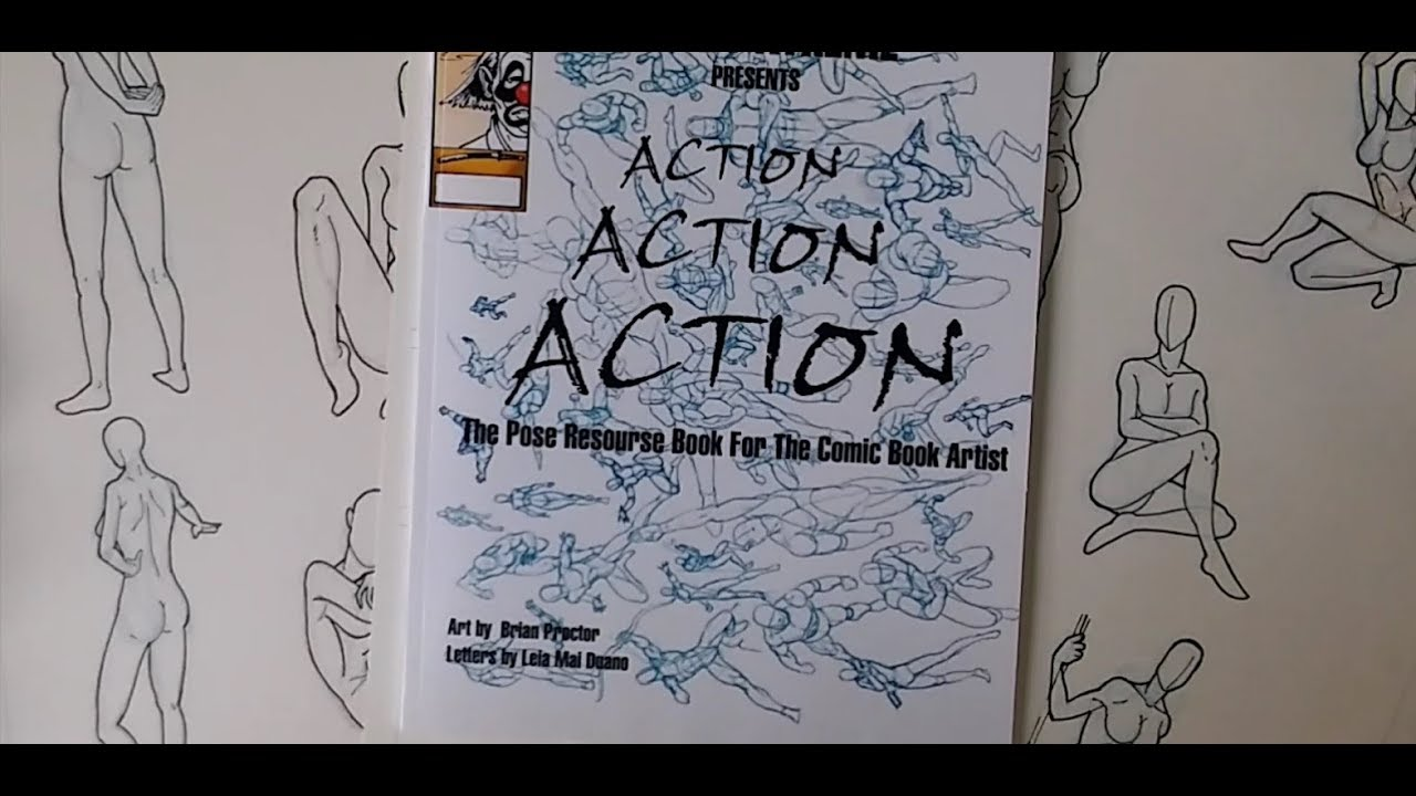My Anatomy Drawing Sucks Action Pose Reference book - YouTube