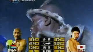 長谷川穂積 vs ブシ・マリンガ(WBC世界バンタム級タイトルマッチ)