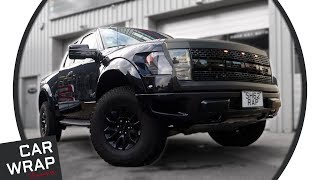 Ford Raptor F-150n SVT wrapped Satin Black