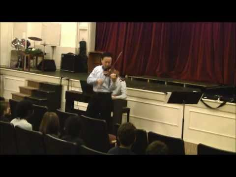 David Kim performs Sonatensatz at Phil-Mont Christian Academy