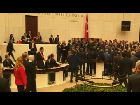 Brawl breaks out in Turkey's parliament