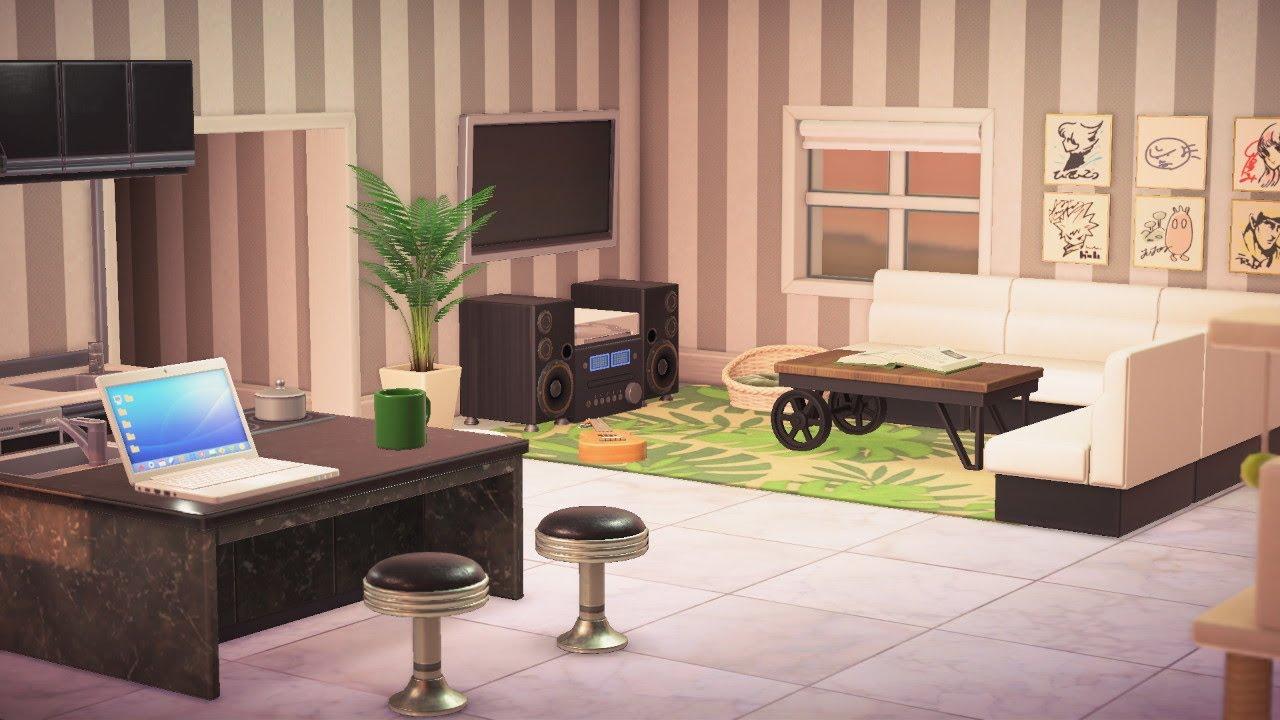 Modern Living Space Interior Design Animal Crossing New Horizons Interior Design Animals Space Interiors Cute Living Room