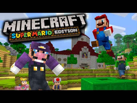 MINECRAFT: SUPER MARIO EDITION (WII U) - MY FIRST TIME PLAYING MINECRAFT EVER!