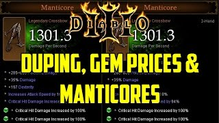 Diablo 3 - Duping, Gem Prices & Manticores