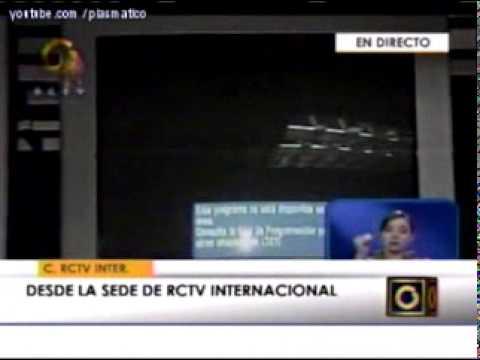 CHAVEZ CIERRA RCTV INTERNACIONAL + CABLE TV  - VENEZUELA