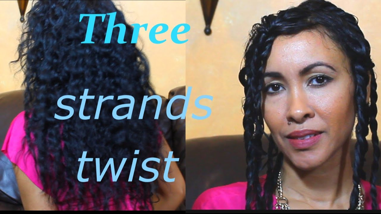 How To: 3 Strand Twist Out Tutorial (Elongate Curly Hair