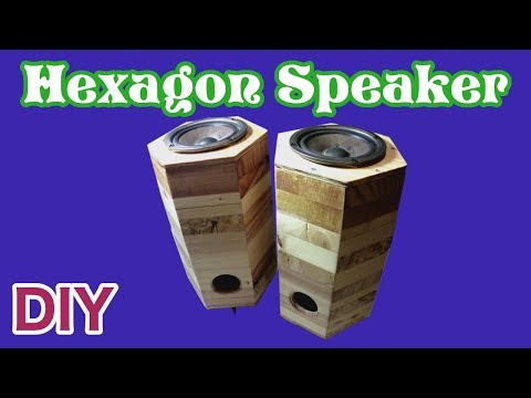 Hexagon Speaker DIY【woodmaking】