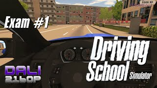 Driving School Simulator Exam 1 City Day Driving PC 4K Gameplay 2160p