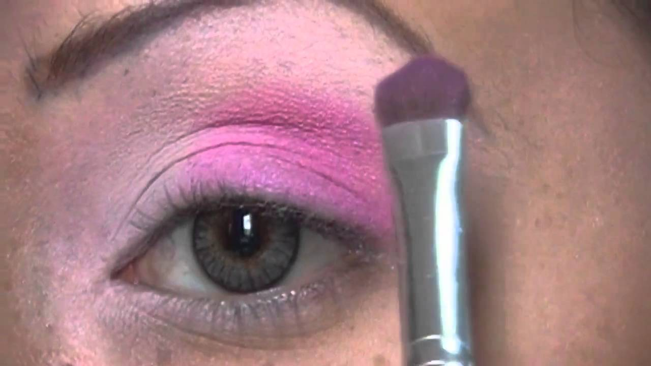 maquillaje de ojos color fucsia - YouTube