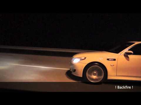 BMW M5 E60 PP-Performance [ BackFire ] vs Jaguar XJL Supersport