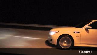 BMW M5 E60 PP-Performance [ BackFire ] vs Jaguar XJL Supersport