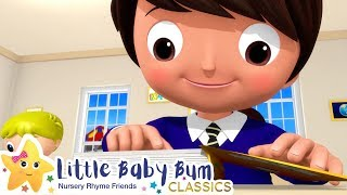 School Time Song | Nursery Rhyme & Kids Song - ABCs and 123s | Little Baby Bum