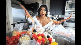 DE'ARRA MADE HER OWN SEAFOOD BOIL!!
