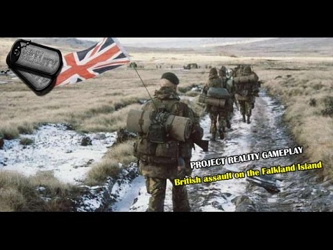 Project reality BF 2: Falklands war mod. British Infantry assault
