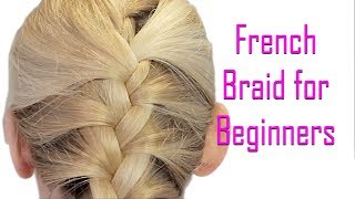 Easiest French Braid Hairstyle Without Tool