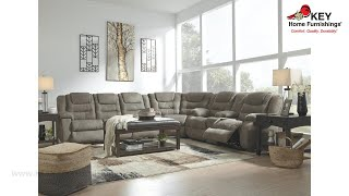 Ashley Mccade 3 Piece Reclining Sectional (APK-10104-S3) | KEY Home