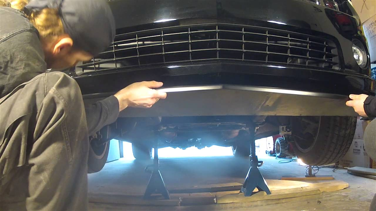 small resolution of acs composite t4 camaro ss splitter installation guide pn 33 4 099 youtube