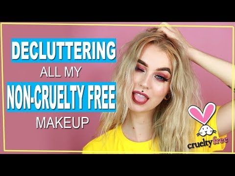 Decluttering All My NON-CRUELTY FREE Makeup | Evelina Forsell