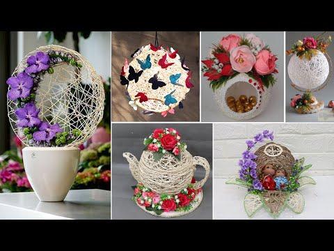 10 Jute Craft Ideas With Balloon | Home Decorating ideas handmade
