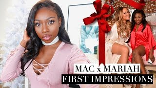 FIRST IMPRESSIONS MARIAH CAREY X MAC GET GLAM WITH ME !
