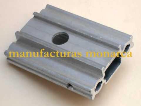 Manufacturas monarca venta de accesorios para stands y for Perfiles aluminio para toldos correderos