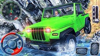 Offroad Jeep Sürüş Simülatörü 2021 - Gerçek 4x4 SUV Sürücüsü Tepe Tırmanışı - Android GamePlay