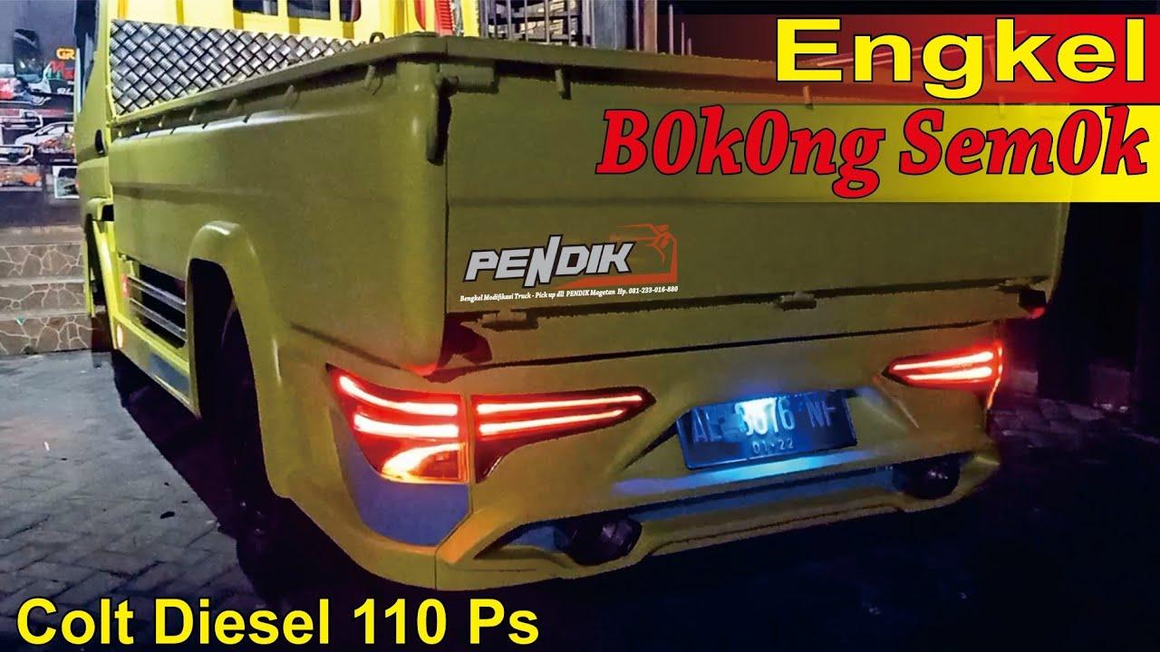 Modifikasi Body Kit Truck Engkel Mitsubishi Colt Diesel 110 Ps Lampu Belakang Pakai Lampu Fortuner Youtube