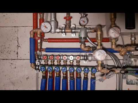 Монтаж водопровода трубами Rehau в Москве.