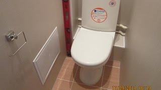 Отделка туалета пластиком. Секреты установки унитаза(РЕМОНТ И ОТДЕЛКА В УЛЬЯНОВСКЕ - https://www.youtube.com/user/themostfamousMASTER Отделка стен туалета ПВХ панелями, отделка потол..., 2014-09-17T19:14:05.000Z)