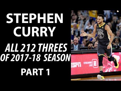 Stephen Curry ALL 212 Three-Pointers in 2017-18 Regular Season Part 1
