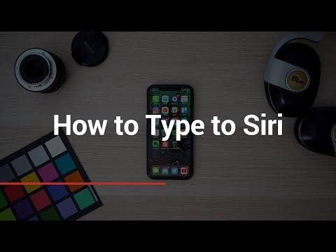 How to Type to Siri