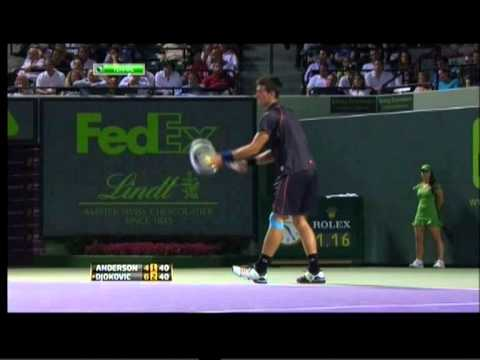 Novak Djokovic vs Kevin Anderson Sony Ericsson Open 2011