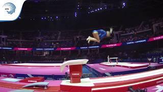 Natalie RIANTOVA (CZE) - 2018 Artistic Gymnastics Europeans, junior qualification vault