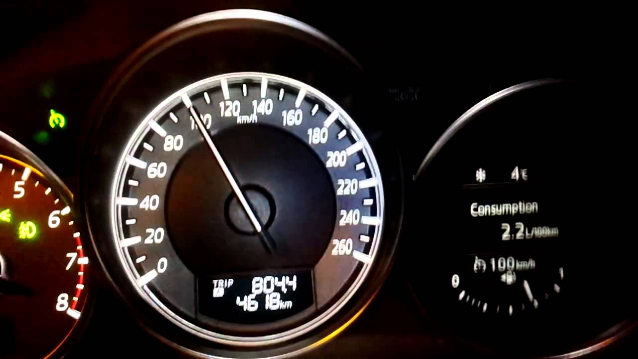 2015 Mazda 6, 2.0AT   Fuel Consumption @100km/h   YouTube