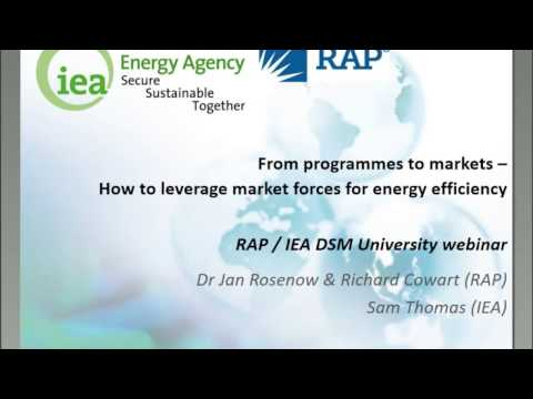 From programmes to markets – how to leverage market forces for energy efficiency