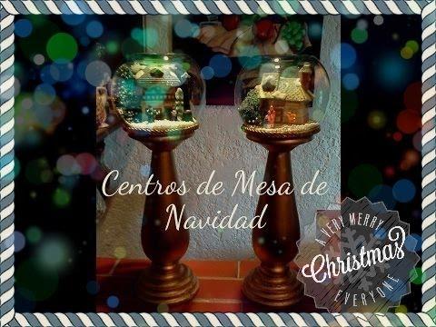 Adornos navide os faciles para realizar centros de mesas - Centros de mesa navidenos faciles ...