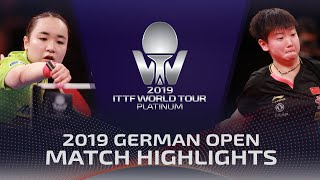 Mima Ito vs Sun Yingsha | 2019 ITTF German Open Highlights (Final)