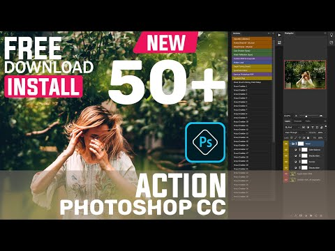 Photoshop Tutorial : Adobe Photoshop CC 2020 Action Free Download I Photoshop CC 2020 New