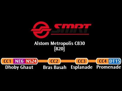 SMRT C830 [820]: Dhoby Ghaut → Promenade (» HarbourFront)