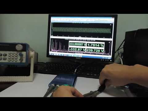 How to Measure Mains / Line Voltage and Harmonic Distortion using a USB Oscilloscope?